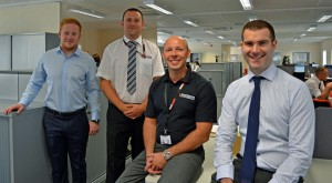 The men behind the move (left to right) Ali Reece – Assistant Project Manager, Reece Group, Niall Ash – Director of Machining, Responsive Engineering, Brian O'Donnell -Director of Fabrication & Welding, Responsive Engineering, Tim Rutter, Chief Transformation Officer, Reece Group