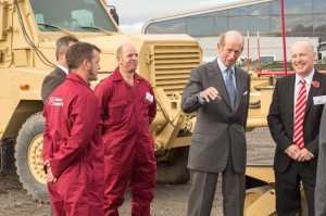 Pearson Engineering staff (left) with His Royal Highness the Duke of Kent (second from right) and John Reece, chairman of The Reece Group (right).