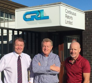 Left to right - Phil Kite, CEO of Reece Group , David Lambert, MD of CRL and John Reece, Chairman of Reece Group