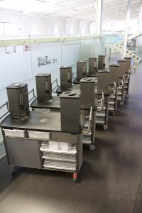 The batch of beverage trolleys at Reece Innovation