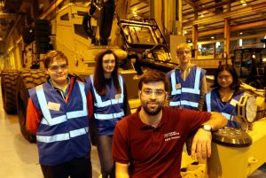 Y10 students from the EDT Routes into STEM programme with Gabriel Thompson, design engineer, Pearson Engineering